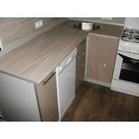 """Кухня """"Капучіно""""(пряма 3,8 м/Капучіно/ДСП в алюмінієвому профілі)"""