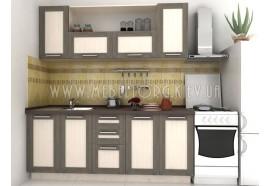 """Кухня """"Адель"""" (прямая 2,0 м/МДФ рамка Венге/ДСП Дуб Молочный)"""