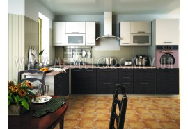 "Кухня ""Сити""(угловая 3,5*2,0 м/белый металлик-штрокс венге/МДФ)"