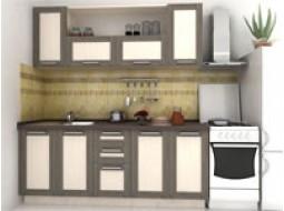 """Кухни """"Адель Дуб Венге""""(рамка венге/дуб молочный)"""