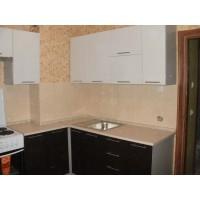 """Кухня """"Сіті""""(кутова 2,4*2,6 м/білий металік-штрокс венге/МДФ)"""