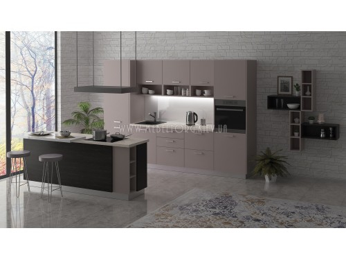 "Кухня ""Руна""(прямая 3,0 м/Макиато/ДСП)"