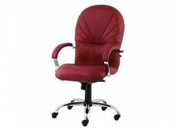 Кресла кожаные с хромом