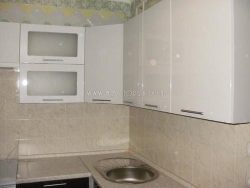 "Кухня ""Сити""(угловая 2,3*1,9 м/белый металлик-штрокс венге/МДФ)"