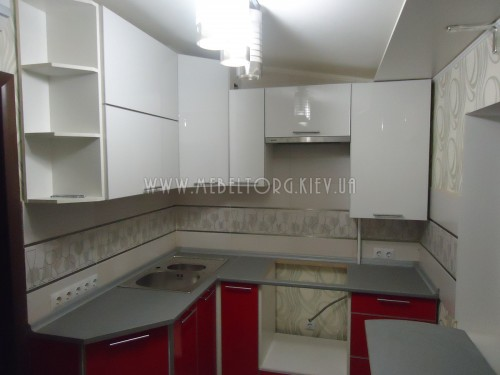 Кухня МДФ акрил на заказ по адресу 61, ул. Липковского, 31