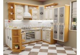 """Кухня """"Классик""""(угловая 2,7*2,2 м/ваниль супермат с патиной/МДФ)"""