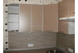 """Кухня """"Капучіно""""(кутова 2,5*1,5 м/Капучіно/ДСП в алюмінієвому профілі)"""