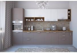 """Кухня """"Руна""""(прямая 3,4 м/Лавина матовая МДФ-Макиато ДСП)"""