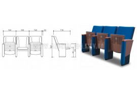 Кресло LS-617- кресла для зрительных залов