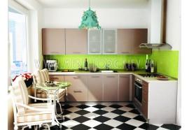 """Кухня """"Капучіно""""(кутова 3,0*1,9 м/Капучіно/ДСП в алюмінієвому профілі)"""