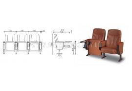 Кресло LS-609- кресла для зрительных залов