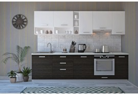 """Кухня """"Руна""""(прямая 2,8 м/Лавина матовая МДФ-Дуб винтаж ДСП)"""