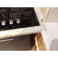 """Кухня """"Сити""""(прямая 2,1 м/белый металлик-штрокс венге/МДФ)"""