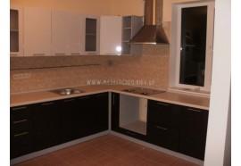 """Кухня """"Сіті""""(кутова 2,45*2,0м/білий металік-штрокс венге/МДФ)"""