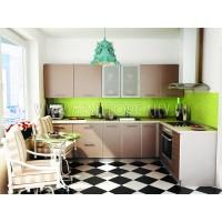 """Кухня """"Капучино""""(угловая 3,0*1,9 м/Капучино/ДСП в алюминиевом профиле)"""
